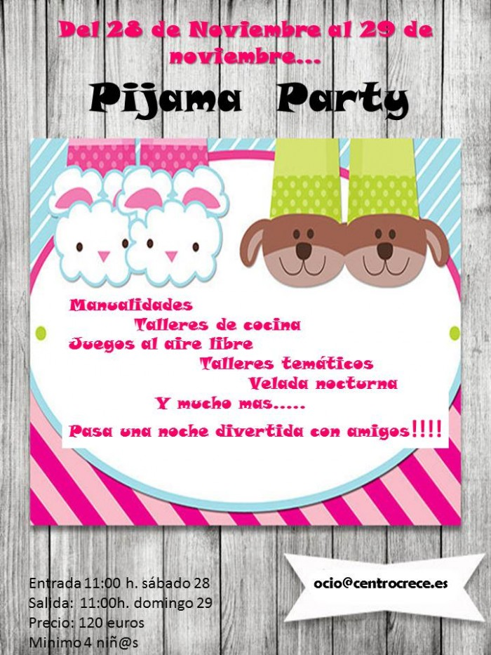 Cartel Pijama Party